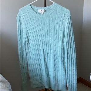 Vineyard vines mint green cable knit sweater